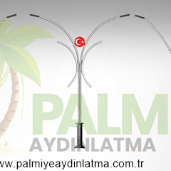Ledli Yol Aydınlatma Direkleri palmiye aydınlatma Modern Aluminyum/Çinko