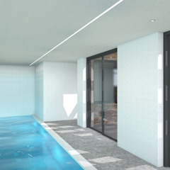 Villa met zwembad Lent Moderne zwembaden van ECO architecten Modern