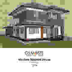 Modern Minimal House โดย OSMOSIS Architectural Design มินิมัล คอนกรีต