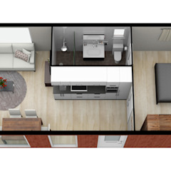 Woning met inpandig terras van CUBE Homes Modern Hout Hout