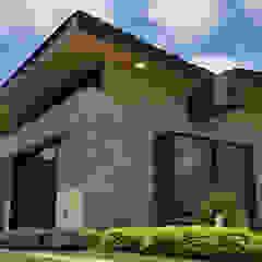 by Oleb Arquitectura & Interiorismo Rustic اینٹوں