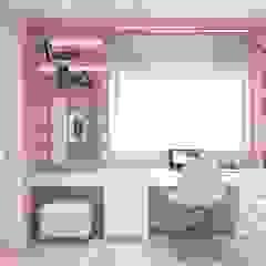 Quarto de menina por Ana Cano Milman arquitetura e design de interiores Moderno Madeira Efeito de madeira