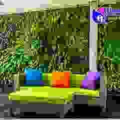 10 Gambar Desain Taman Vertikal (Vertical Garden) Bangunan Kantor Modern Oleh Tukang Taman Surabaya - flamboyanasri Modern Besi/Baja