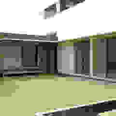판교 중목구조 주택 모던스타일 정원 by 건축사사무소 모뉴멘타 모던 우드 우드 그레인