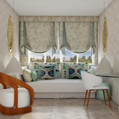 Pequeno, grande apartamento Estoril por Inêz Fino Interiors, LDA Eclético Derivados de madeira Transparente