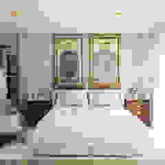 Pequeno, grande apartamento Estoril por Inêz Fino Interiors, LDA Eclético Madeira maciça Multicolor