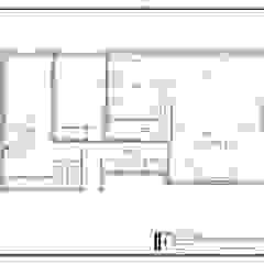 Pequeno, grande apartamento Estoril Corredores, halls e escadas ecléticos por Inêz Fino Interiors, LDA Eclético Mármore
