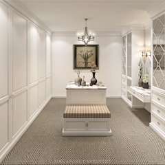 Colonial style dressing rooms by Singapore Carpentry Interior Design Pte Ltd Colonial