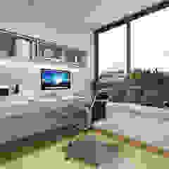 Modern Glamour at Holland Village Condo Modern study/office by Singapore Carpentry Interior Design Pte Ltd Modern