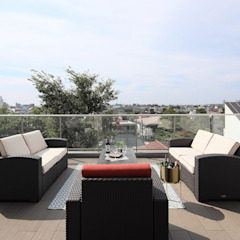 PROSPERDESIGN ARCHITECT OFFICE/プロスパーデザイン Modern balcony, veranda & terrace