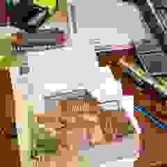 od eco cero - Arquitectura sustentable en Talca Rustykalny Drewno O efekcie drewna