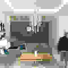 Rumah Krembangan Ruang Keluarga Modern Oleh SEKALA Studio Modern Batu Bata