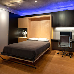 Collage Condo Modern Bedroom by KUBE Architecture Modern