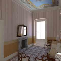 salottino di ingresso Ing. Massimiliano Lusetti Ingresso, Corridoio & Scale in stile classico