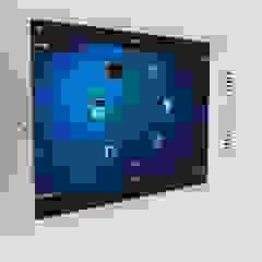 touch screen con el Ipad en la pared casa inteligente