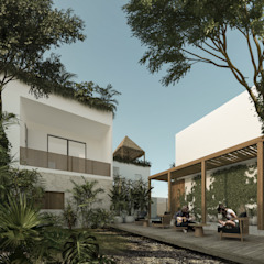 by Obed Clemente Arquitectos Tropical Wood Wood effect
