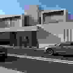OLLIN ARQUITECTURA Multi-Family house Concrete Grey