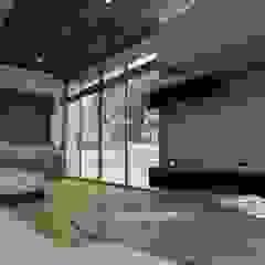 OLLIN ARQUITECTURA Modern Living Room Wood Brown