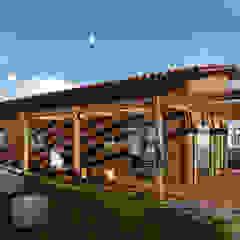 Modelo | T3 127m² por Discovercasa | Casas de Madeira & Modulares Moderno Madeira Acabamento em madeira