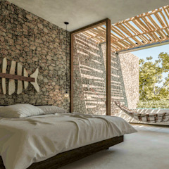 by Obed Clemente Arquitectos Tropical پتھر