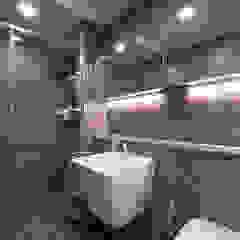 차분한 그레이 인테리어 모던스타일 욕실 by 디자인 아버 모던