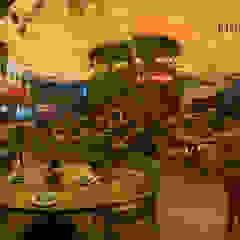 Mái che quán bar Skylight Nha Trang Hiên, sân thượng phong cách hiện đại bởi Công ty TNHH Havico Việt Nam Hiện đại
