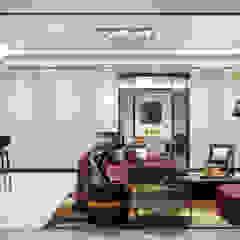 Luxury Solutions Salas de entretenimiento de estilo moderno Beige
