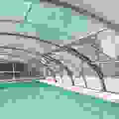 Zadaszenia basenów Gracja Sun Nowoczesny basen od GRACJA SP. Z O.O. Nowoczesny Aluminium/Cynk