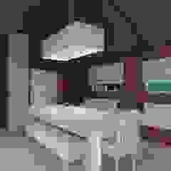 Diseño de interior de Casa El Carmel por 3G Arquimundo Balcones y terrazas modernos: Ideas, imágenes y decoración de Arquimundo 3g - Diseño de Interiores - Ciudad de Buenos Aires Moderno