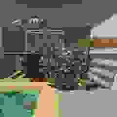 Fachada Frontal casa contêiner Oria Arquitetura & Construções Casas pré-fabricadas Ferro/Aço Metalizado/Prateado