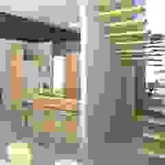 Cozinha e escada Oria Arquitetura & Construções Armários e bancadas de cozinha Madeira