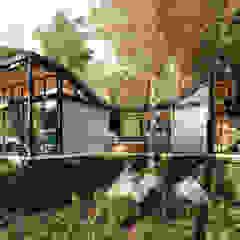 Casas de estilo industrial de @tresarquitectos Industrial
