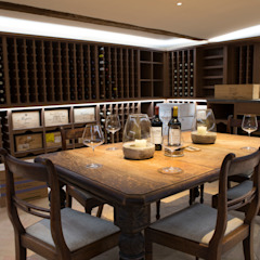 Country style wine cellar by CLPM Ltd Construction Project Consultancy Country