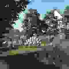 PROJEKT NATURALISTYCZNEGO OGRODU PRZY DOMU JEDNORODZINNYM, Gdańsk Osowa Nowoczesny ogród od STTYK - Pracownia Architektury Wnętrz i Krajobrazu Nowoczesny