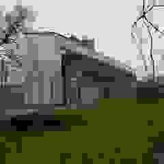 Nowoczesny dom na warszawskim Wilanowie od Budownictwo i Architektura Marcin Sieradzki - BIAMS Minimalistyczny Beton