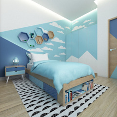 Desain interior Bedroom Kamar Tidur Modern Oleh viku Modern Kayu Wood effect