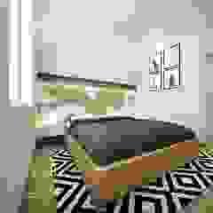 Desain interior Bedroom Kamar Tidur Gaya Skandinavia Oleh viku Skandinavia Kayu Wood effect