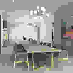 Residential Project Namibia Scandinavian style dining room by Lijn Ontwerp Scandinavian MDF