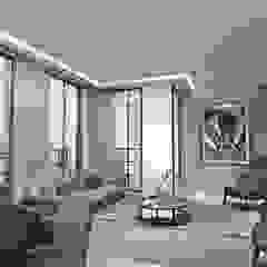 Appartementen Spui DenHaag Eclectische woonkamers van Lars Bartels, Interior & architecture Eclectisch