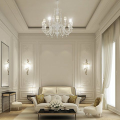 كاسل للإستشارات الهندسية وأعمال الديكور والتشطيبات العامة Living room Granite Yellow