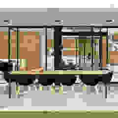 Casa MV2 Balcones y terrazas modernos: Ideas, imágenes y decoración de VP Arquitectura Moderno Ladrillos