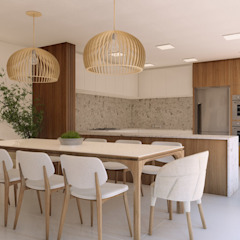 Casa Nanette Salas de jantar minimalistas por Studio Calla Arquitetura Minimalista
