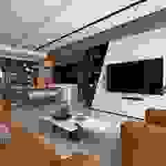 線.構 现代客厅設計點子、靈感 & 圖片 根據 築川設計 現代風