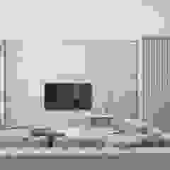 Apartament w Warszawie Skandynawski salon od Exit Pracownia Projektowa Skandynawski