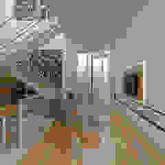 TSforTC House Ruang Keluarga Tropis Oleh Abil Architect Tropis Parket Multicolored