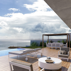 CASA SP1 - Moradia em Sesimbra - Projeto de Arquitetura por Traçado Regulador. Lda Moderno Betão
