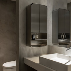 Eclectic style bathroom by 湜湜空間設計 Eclectic Concrete