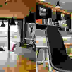 Rénovation d'un bar à huîtres Espaces commerciaux modernes par Trace & Associes architecture Moderne