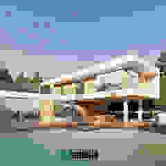 por The OnGround บริษัทรับสร้างบ้านสไตล์ Modern Japanese Minimalista Concreto reforçado
