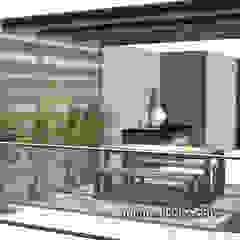 Terrazas con actitud Balcones y terrazas minimalistas de Minimalistika.com Minimalista Madera maciza Multicolor